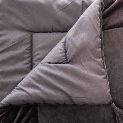 Velvet Bedloper Grijs - 80 x 180 cm