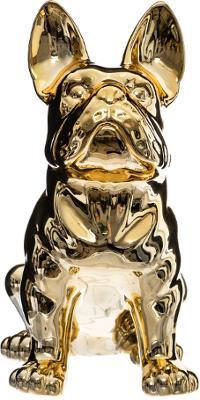 Beeld Bulldog Goud - H22 cm