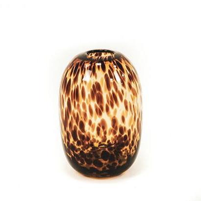 Deco Vaas Panter - Cheetah Amber - H26 cm