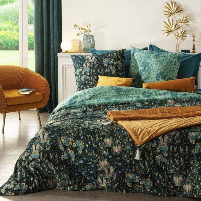 Velvet Bed loper Runner Oker geel - 80 x 180 cm