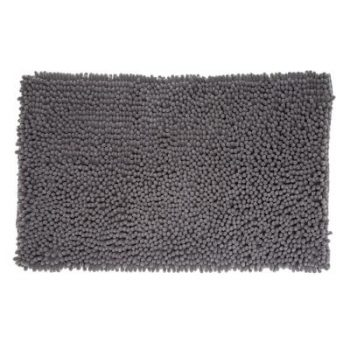 Badmat Chenille Hoogpolig Grijs - 80 x 50 cm