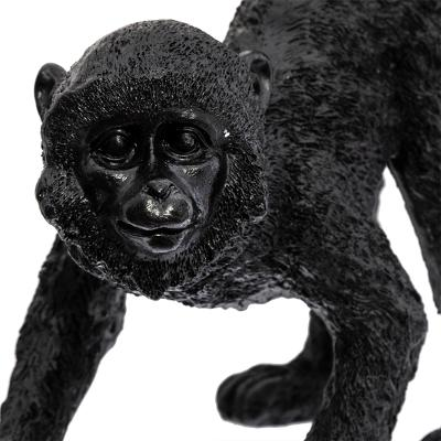 Ornament Monkey Zwart - H42