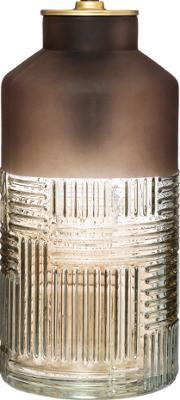 LED-lamp Bottle - Amber Bruin - Goud - Werkt op batterijen (incl. lamp) - H26 cm