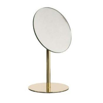 Make-up spiegel Goud op standaard - H26cm