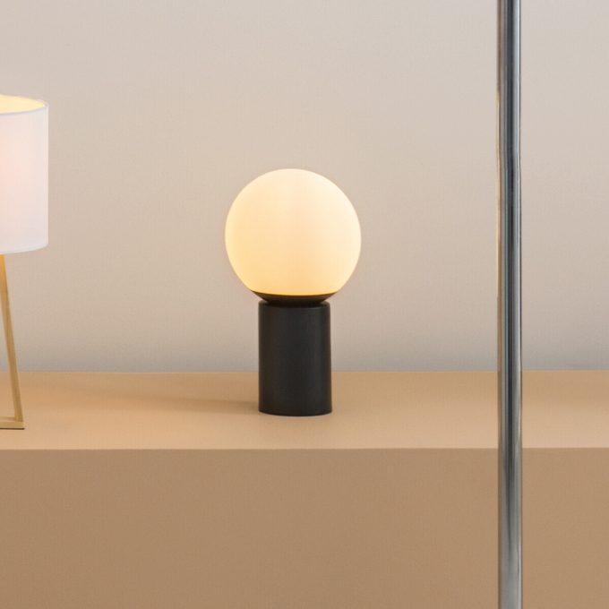 Design Tafellamp Zwart Touch ON/OFF - Ø 15 cm x H 26 cm