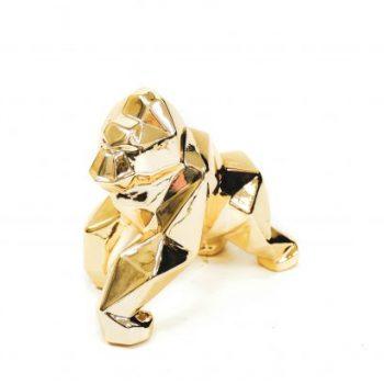 Deco object Geometric Gorilla Goud