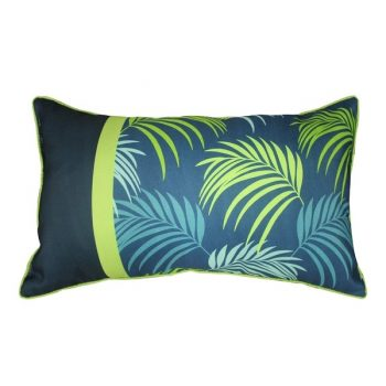 Kussen Tropical - Blauw/Groen 30 x 50 cm (incl. vulling)