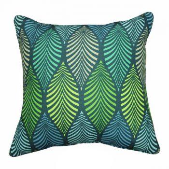 Kussen Tropical - Blauw/Groen 40 x 40 cm (incl. vulling)