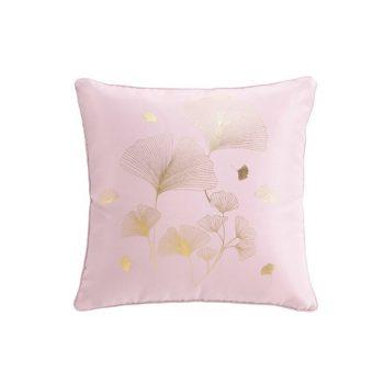 Kussen Bloom - Roze - Goud - 40 x 40 cm (incl. vulling)