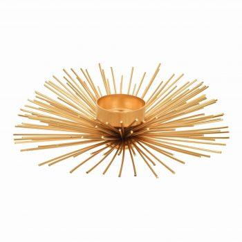 Waxinelichthouder Spikes - Goud - Ø15 cm