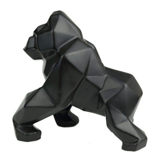 Deco object Geometric Gorilla Zwart