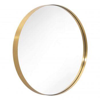 Ronde wandspiegel Metal met goudkleurige lijst - Ø 40 cm