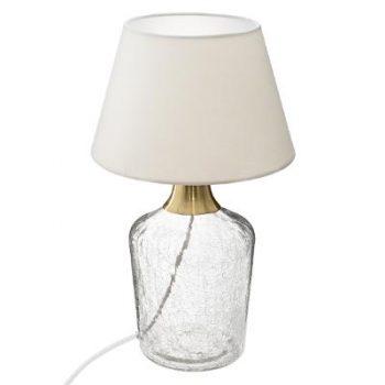 Tafellamp Cracked Madam Wit - Goud
