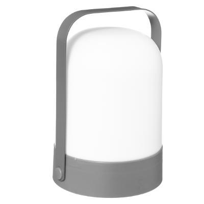 LED Lantaarn Grijs - Werkt op batterijen (incl. lamp) - Voor binnen & Buiten
