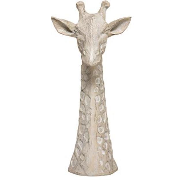 Decoratief beeld Giraf Beige - H33