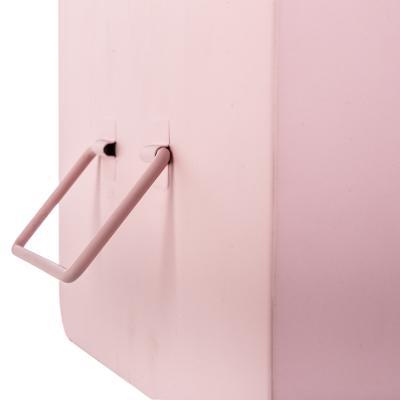 Set van 2 Opbergkist Roze Metaal