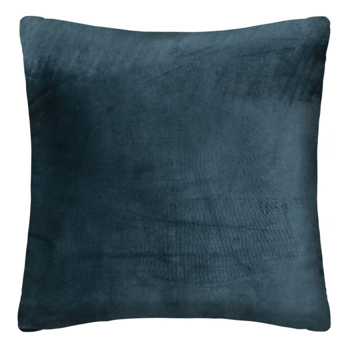 Sierkussen Velvet Pauw Petrol Blauw - Goud - 40 x 40 cm (incl. vulling)