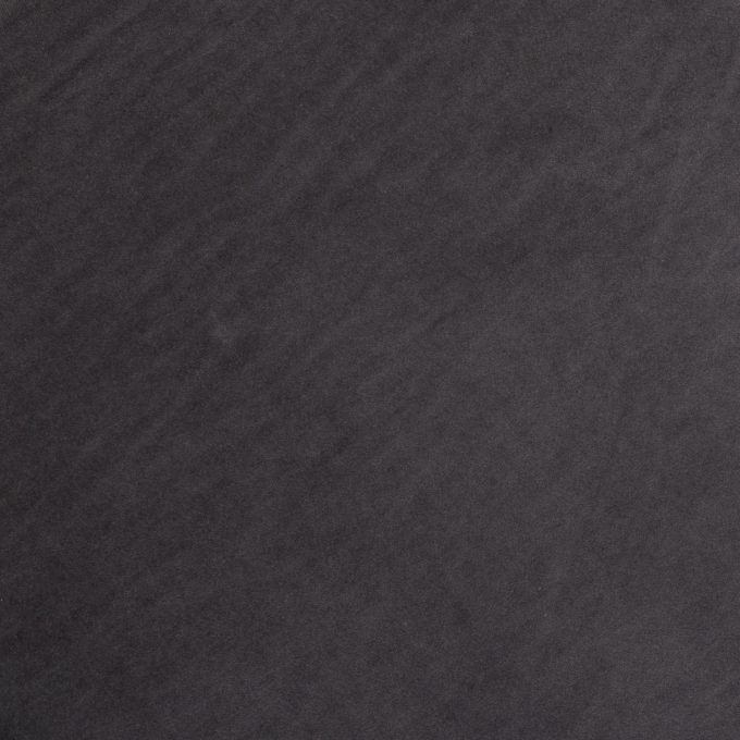 Velvet Poef/Voet bankje Donker Grijs met Zwarte Onderstel - Ø 47 x H 45 cm