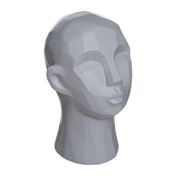 Abstract hoofd sculptuur Grijs - H22