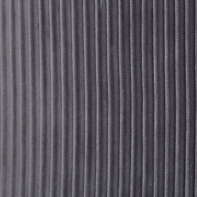 Velvet Poef Glam Lines - Grijs - Ø31 cm x H 38cm