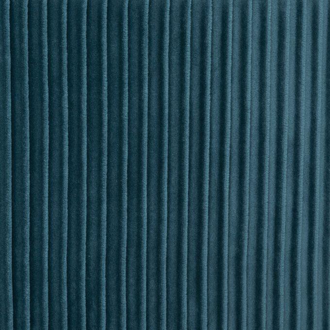 Velvet Poef Glam - Petrol Blauw - Ø31 cm x H 38cm