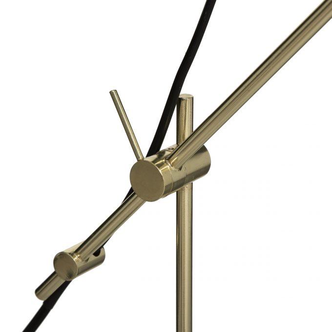 Bureaulamp Marble van Goudkleurig metaal en wit marmer